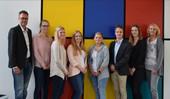 v.l.: Mario Broisch (Gesamtpersonalratsvorsitzender), Lena Thuir, Christina Zaudig, Janine Conrads, Alicia Schmitz, Timo Beierle, Shari Rink und Ira Leifgen (Personalratsvorsitzende)