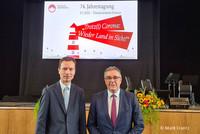 Landesvorsitzender Andreas Hemsing mit Dr. Martin Klein (Hauptgeschäftsführer des Landkreistages NRW, links). © Mark Frantz